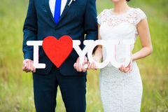 Couple in love on wedding day Royalty Free Stock Photos