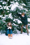 Couple in love in winter. The couple in love in winter Royalty Free Stock Photography