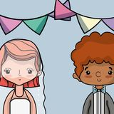 Couple lover merried celebration design. Vector illustration Royalty Free Stock Images