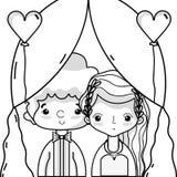 Couple lover merried celebration design. Vector illustration Stock Photos