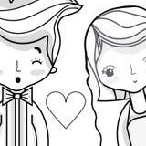 Couple lover merried celebration design. Vector illustration Stock Photo