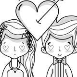 Couple lover merried celebration design. Vector illustration Royalty Free Stock Image