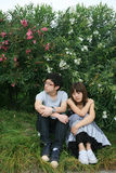 Couple of lover unhappy Stock Images