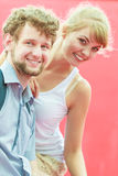 Couple lovers dating outdoor Royalty Free Stock Photography
