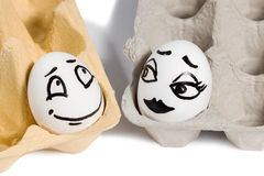 Couple of lovers eggs Stock Image