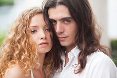 Couple lovers on the nature Royalty Free Stock Photography