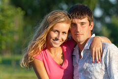 A couple of lovers in the park Stock Image