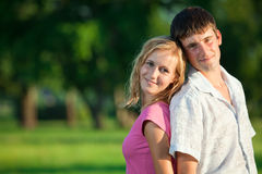 A couple of lovers in the summer Stock Image