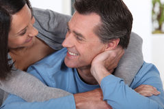 Couple in a loving embrace Royalty Free Stock Image