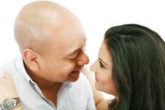 Couple lovingly. Couple looking lovingly at each other Royalty Free Stock Photo