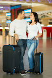 Couple luggage airport Stock Images