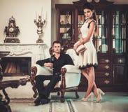Couple in luxury home Stock Photo