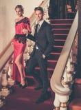 Couple in luxury interior Stock Image
