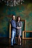 Couple in a luxury interior Stock Photo