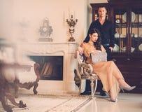 Couple in luxury interior Stock Photography