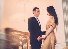 Couple in luxury interior Stock Photos