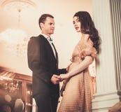 Couple in luxury interior Royalty Free Stock Photo