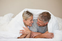 Couple lying down Stock Photo