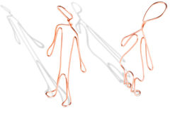 Couple made from copper wire Royalty Free Stock Images