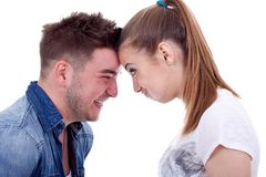Couple making faces Stock Photography