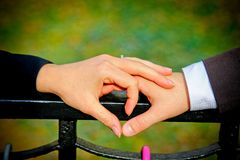 Couple Making A Heart Shape With Their Hands Royalty Free Stock Photos