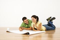 Free Couple Making Plans. Stock Photography - 3533032
