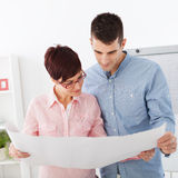 Couple making plans for new home Royalty Free Stock Photo