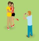 Couple Making Selfie Royalty Free Stock Photos