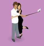 Couple Making Selfie Royalty Free Stock Image