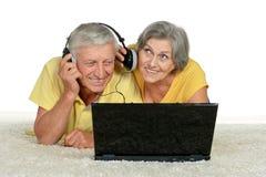 couple making video call Stock Photos