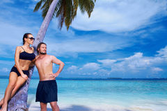 Couple at Maldives Stock Image