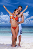 Couple at Maldives Royalty Free Stock Photography