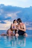 Couple at Maldives Royalty Free Stock Photos