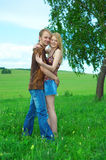 Couple man and woman Stock Images