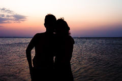 Couple Man and Woman on beach Royalty Free Stock Photos