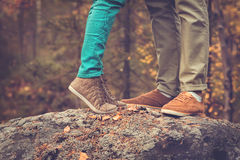 Couple Man and Woman Feet in Love Royalty Free Stock Photography
