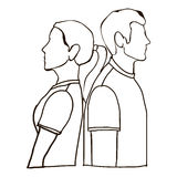 Couple man and woman icon image Royalty Free Stock Photo