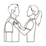 Couple man and woman icon image Stock Images