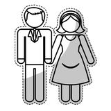 Couple man and woman icon image Stock Photos
