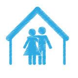 Couple man and woman icon image Royalty Free Stock Photography