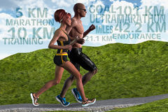 Couple Man Woman Running Training Endurance Sports Royalty Free Stock Photography