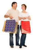 Couple man and woman with shopping bag Stock Photo