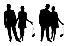 Couple_2. Man and woman. Couple of young people walking Royalty Free Stock Photography