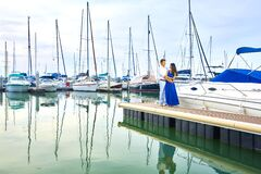 Couple in marina
