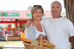 Couple at the market Stock Photo