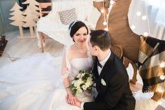 Couple married on Christmas Eve. Stock Image