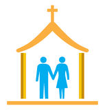 Couple married with church Royalty Free Stock Images