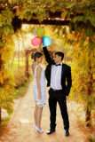 Couple married in nature Royalty Free Stock Photo