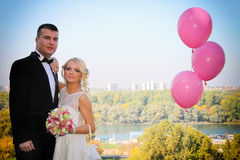Couple married in nature Royalty Free Stock Photography