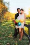 Couple married in nature Stock Image
